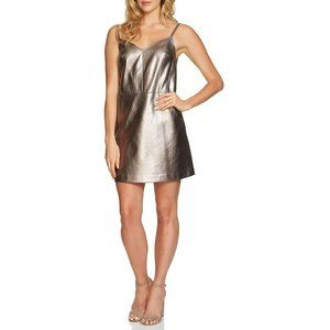 1.State The Curator Cocktail Dress Silver Foil 2